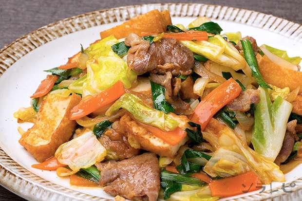 豚肉と厚揚げの野菜たっぷり味噌炒め_main1