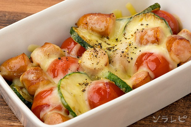 ズッキーニとミニトマトのチーズ焼き_main1