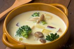 野菜ごろごろ豆乳スープ
