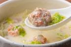 鶏ごぼう豆乳スープ