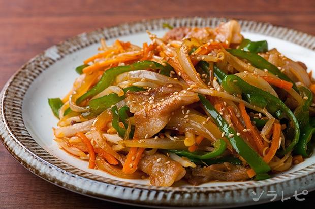 豚肉プルコギ風炒めのレシピ