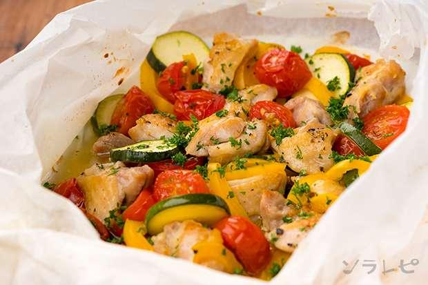 夏野菜と鶏肉の包み焼き_main1