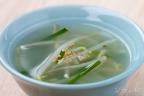 モヤシとニラの中華スープ