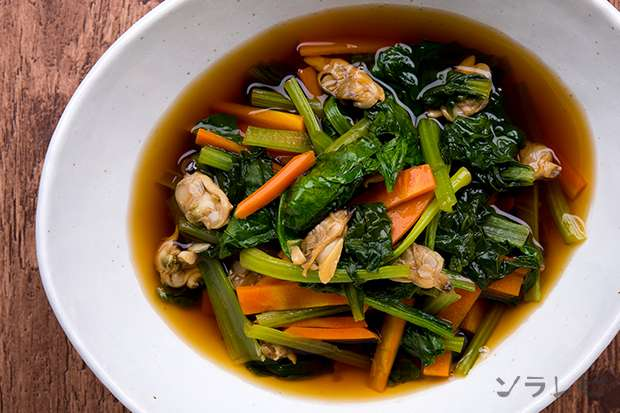 小松菜とアサリの煮びたし_main2