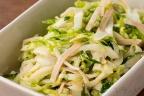 キャベツとハムのマヨごまサラダ