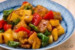 野菜と鶏肉の甘酢炒め