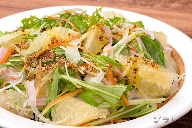 水菜とグレープフルーツのさっぱりサラダ_main1