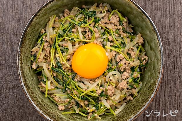 もやしと豆苗の味噌炒め丼_main2