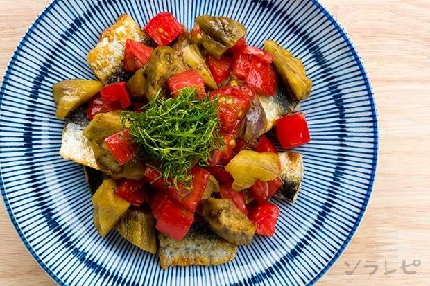 夏野菜とイワシのポン酢和え_main2