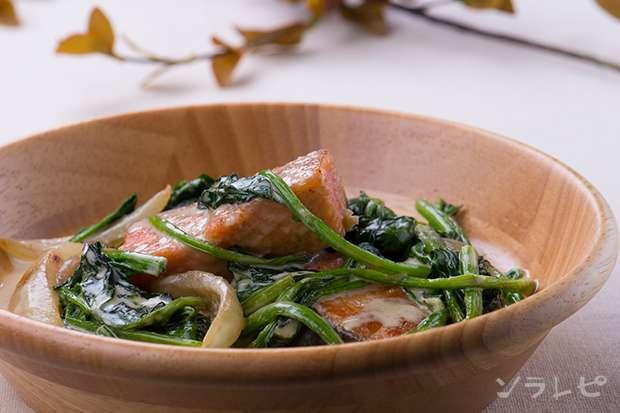 ほうれん草と鮭のクリーム煮_main1