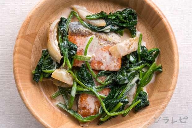ほうれん草と鮭のクリーム煮_main2