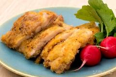 鶏肉のチーズパン粉焼き
