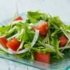 簡単シンプルサラダ水菜とトマト...