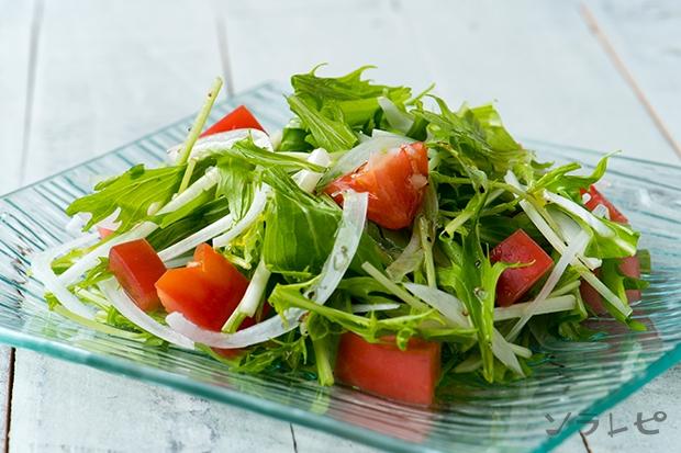 水菜とトマトのサラダ_main1