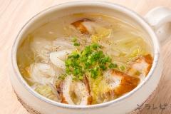 ちくわと白菜の春雨スープ