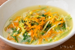 水菜の中華風卵とじ