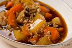 根菜と鶏挽肉の煮物