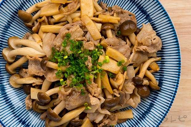 豚肉とキノコのポン酢炒め_main2