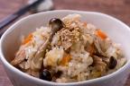 ツナと根菜の炊きこみご飯