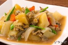 アサリとジャガイモの煮物