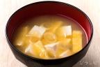 豆腐と油揚げと長ネギの味噌汁