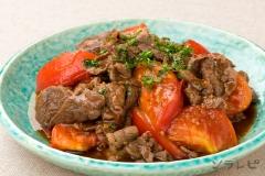 牛肉とトマトのガーリックソテー