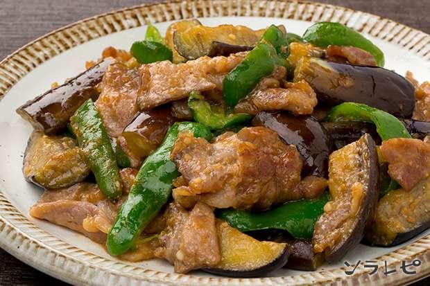 豚肉とナスとピーマンの味噌炒め_main1
