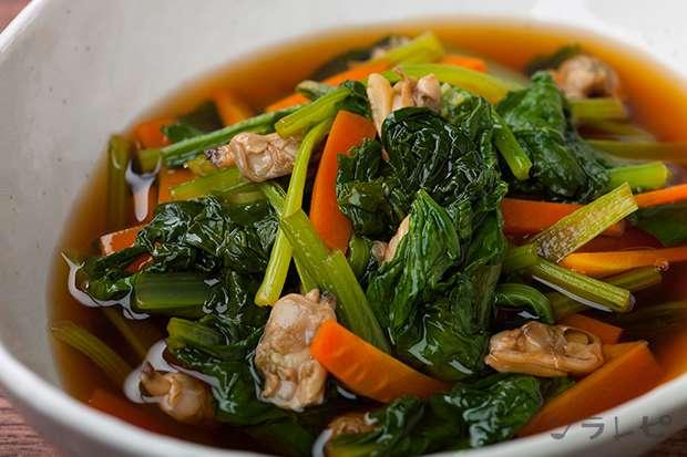 小松菜とアサリの煮びたし_main1