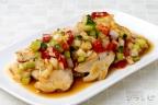 鶏ムネ肉のソテー 和風ラヴィゴットソース