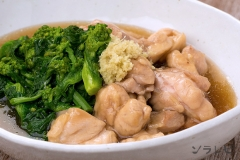 鶏肉と菜の花の煮物