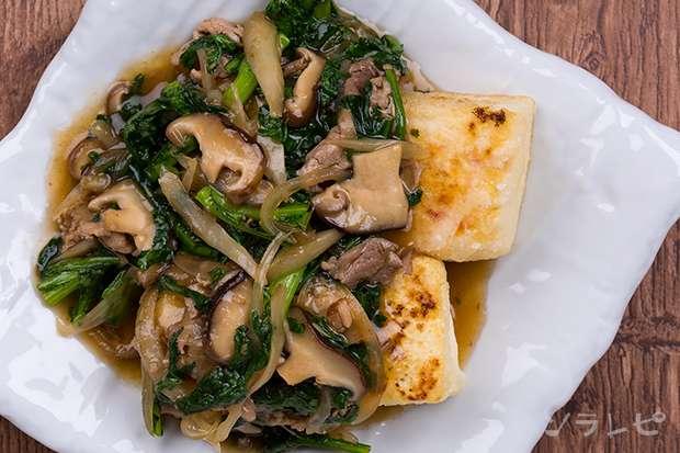 豚肉と春菊の豆腐あんかけ_main2