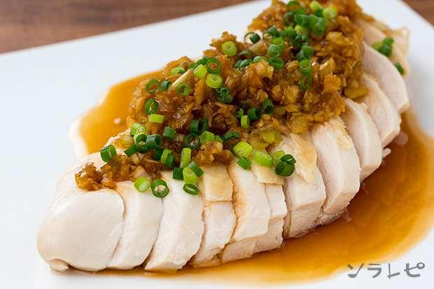 蒸し鶏の薬味ソース_main1