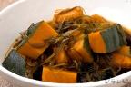 かぼちゃと切り昆布の煮物