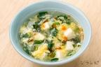 春菊と豆腐の酸辣湯