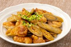 鶏ムネ肉とごぼうの甘辛炒め