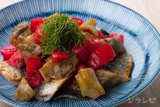 夏野菜とイワシのポン酢和え_main1