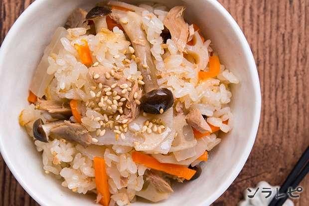 ツナと根菜の炊きこみご飯_main2