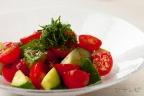 きゅうりとトマトの梅しそ和え