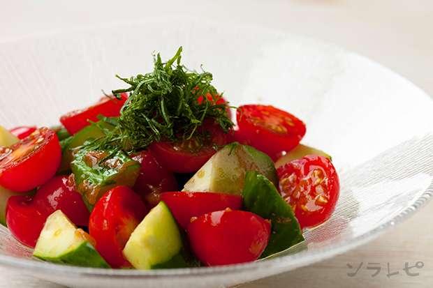 きゅうりとトマトの梅しそ和え_main1