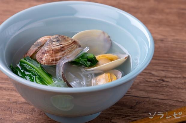 あさりの酒蒸し風春雨スープ_main1