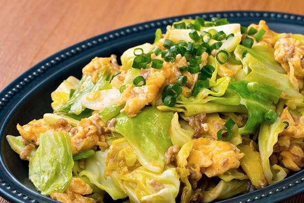 挽き肉とキャベツの卵炒め_main1